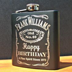 Personalized Birthday Flask by MarcellasEngravables on Etsy. Only $23.00! I know just who I'm getting this for when the big 5-0 rolls around! ;)