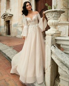 Wedding Dress Innocentia 2019 toarmina bridal long lantern s;leeves illusion bateau sweetheart neckline heavily embellished bodice romantic a line wedding dress chapel train mv -- Innocentia 2019 Wedding Dresses Long Wedding Dresses, Boho Wedding Dress, Bridal Dresses, Event Dresses, Gown Wedding, Wedding Groom, Sleeve Wedding Gowns, Victorian Wedding Dresses, Mermaid Wedding