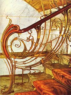 Solvay House banister by Victor Horta, Brussels. @Deidré Wallace
