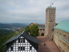 View from the Wartburg Castle in Eisenach