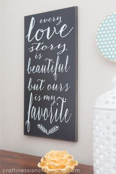 craftiness is not optional: Vinyl Crafts wooden sign review & $70 store credit giveaway!