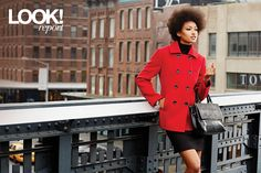 Make a statement and take on the city this fall in a bright pea coat Canada Shopping, Swing Coats, Pea Coat, Fall Looks, Online Furniture, Put On, Wonderland, Bright, City