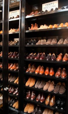 My future shoe closet, minus the men's shoes and filled with women's shoes.....oh how lovely that would be!!!