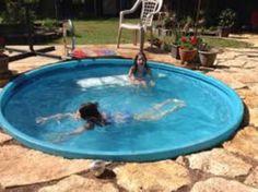 Hard plastic stock tank pool