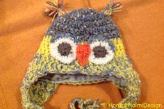Crochet Owl Hat Bérelt baglyos sapka
