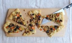 Anna Thomson's brussels sprouts, cranberry and stilton pizza.