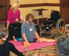 """Adapted Yoga, the Latest Trend for Wheelers"" Benefits of Yoga for those with spinal cord injuries or other disabilities."
