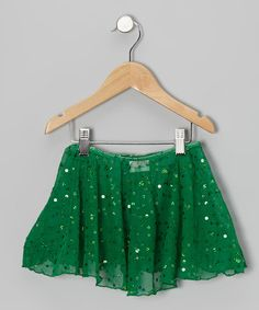 Take a look at this Emerald Sheer Sequin Skirt - Toddler & Girls by Clingons Activewear on #zulily today!