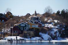 Inseln im Fjord.