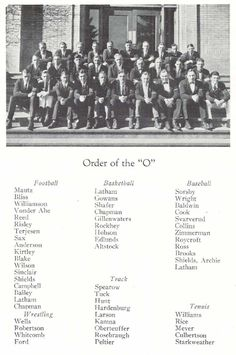 "The 1923-24 UO lettermen (""Order of the O"").  From the 1924 Oregana (University of Oregon yearbook).  www.CampusAttic.com"