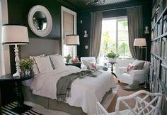Cozy black bedroom