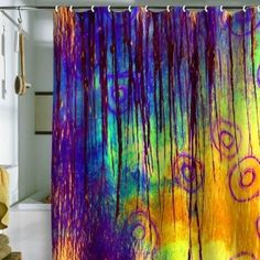 LOOOOVE this shower curtain