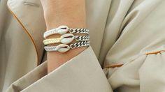 Bracelets tresse et coquillage #elodietrucparis --> www.elodietrucparis.tictail.com