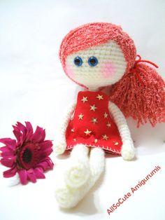 Вязание крючком выкройка, кукла, мгновенная загрузка, учебник, pdf, Амигуруми девочка, кукла выкройка