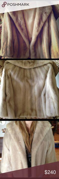 Beige mink coat Great condition, custom made Jackets & Coats