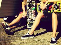 #skateboard #girls #vans #cool