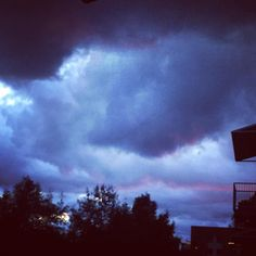 Sunset as the storm comes in.