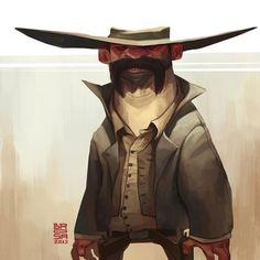Characters by Sergi Brosa via Behance