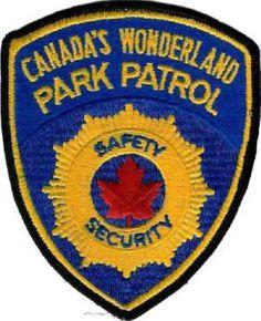 Canada's Wonderland Park Patrol patch