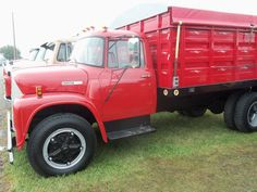Red International Loadstar truck from the leftside