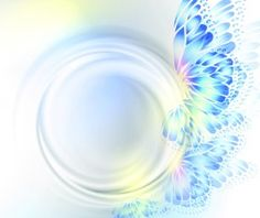 Butterfly wings with abstract background vector 03