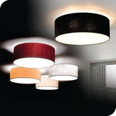 Flush ceiling light in a choice of 4 coloursMD1477-500 - Contract Lighting
