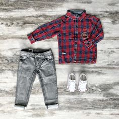 Shop the latest range of cool clothes from Sudo Kids at Tiny Style in Australia. Toddler Boy Fashion, Toddler Boy Outfits, Toddler Boys, Kids Clothes Australia, Kid Check, Cool Kids Clothes, Jeans And Converse, Boys Style, Check Shirt