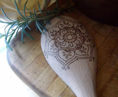 Wooden Spoon with pagan art burned in.  LOVE IT!