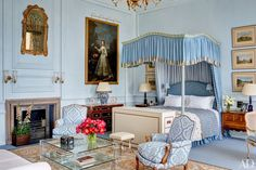 Mark Gillette creates a dreamy master bedroom in an exquisite apartment in Burley on the Hill, a 300-year-old English country estate