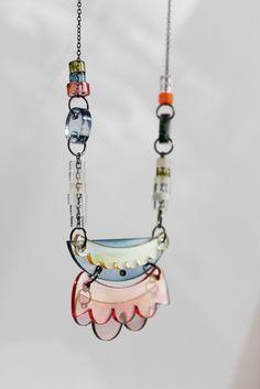 painted plexi necklace