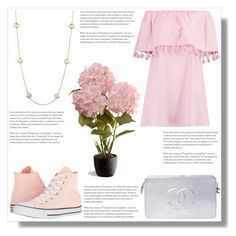 """Melanie Martinez- Crybaby Inspired"" by ella-polyvore ❤ liked on Polyvore featuring Boohoo, Converse, Chanel, Kendra Scott and National Tree Company"