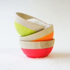 Neon Mini Bowls / Dot and Bo