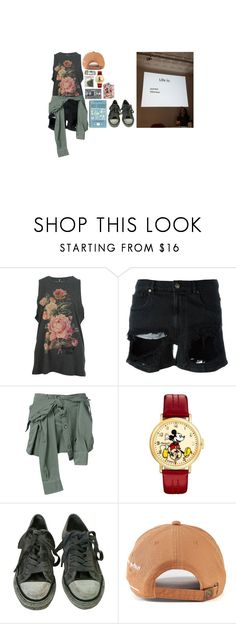 """""""Coz My Day Sucks Ass"""" by iamdeadpoetry ❤ liked on Polyvore featuring GaÃ«lle Bonheur, Faith Connexion, Disney, AllSaints and CASSETTE"""