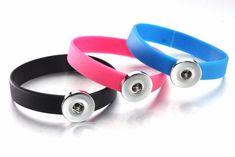 Snap Button Sports Rubber bracelet