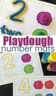 Playdough mats for exploring number identification and number sense. Playdough is a fantastic sensory activity and together this is a fantastic preschool or kindergarten activity! Numbers Preschool, Fall Preschool, Kindergarten Activities, Preschool Activities, Counting Activities, Learning Numbers, Kids Wedding Activities, Activities For Girls, Christmas Activities For Kids