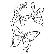 The seemingly beautiful coloration & unique patterns on butterflies has always attracted kids. Provide kids these 25 free printable butterfly coloring pages