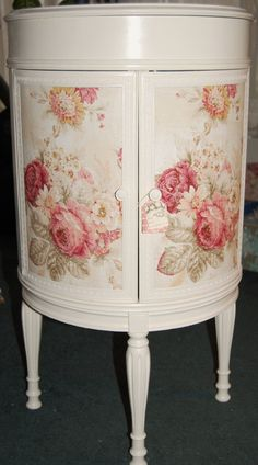 Decoupage..Beautiful Cottage Chic Nightstands  one of a by Daniscustomdesigns, $295.00