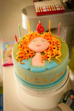 Merida cake for  Em's 4th Birthday