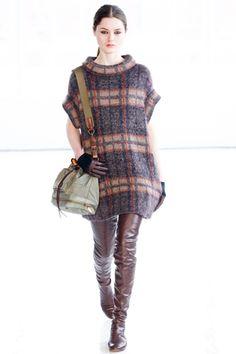 United Bamboo Plaid Knit Dress
