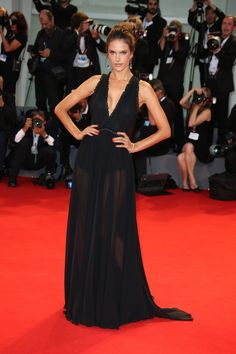 Alessandra Ambrosio wore a Philosophy di Lorenzo Serafini gown with Chopard jewels.