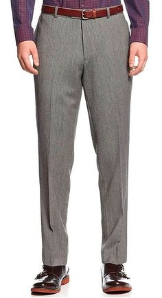 Bar III Slim Fit Pants Grey Herringbone New Men's Suit Sep. (30W x 32L)