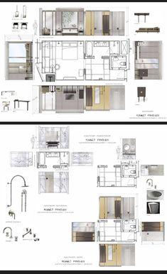 Park Hyatt Shenzhen Mood Board Interior, Interior Design Boards, Floor Design, House Design, Planer Layout, Interior Design Presentation, Interior Design Sketches, Interior Architecture, Classical Architecture