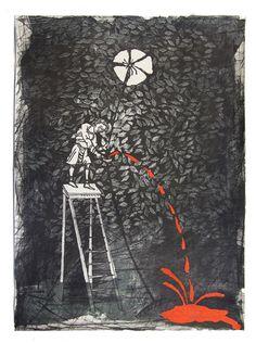 "Son para la corona 2, 2012 – From ""Son para la corona series"", Lithograph, 78 x 57 cm"