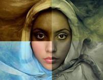 Duotonos en photoshop by Gabriel Arriola Bravo, via Behance