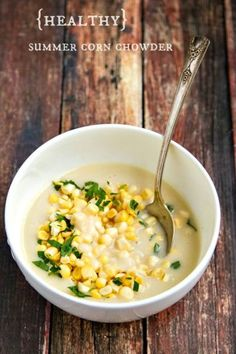 creamy summer corn and potato chowder - super creamy with no cream! Find out my secret ingredient :)