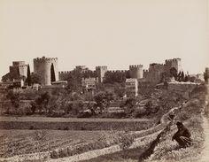 Руины стен Константинополя на старых фото - maximus101 Башни и стены Едикуле - турецкой крепости, возведенной на месте византийской - Каструм Ротондум.