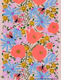 surface pattern designs for fall! Surface Pattern Design, Pattern Art, Abstract Pattern, Print Patterns, Pattern Designs, Art And Illustration, Floral Illustrations, Motif Floral, Floral Prints