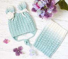 Knit hat and cowl Crochet Girls, Crochet Baby Hats, Crochet Beanie, Knit Or Crochet, Knitted Hats, Knitting Designs, Knitting Projects, Crochet Projects, Knitting For Kids