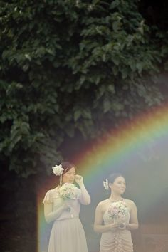 teary bridesmaids + a #rainbow - what more could you want?