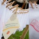 Handkerchief Programs Design by Sweet Deets Events - Photo by Adeline & Grace Photography